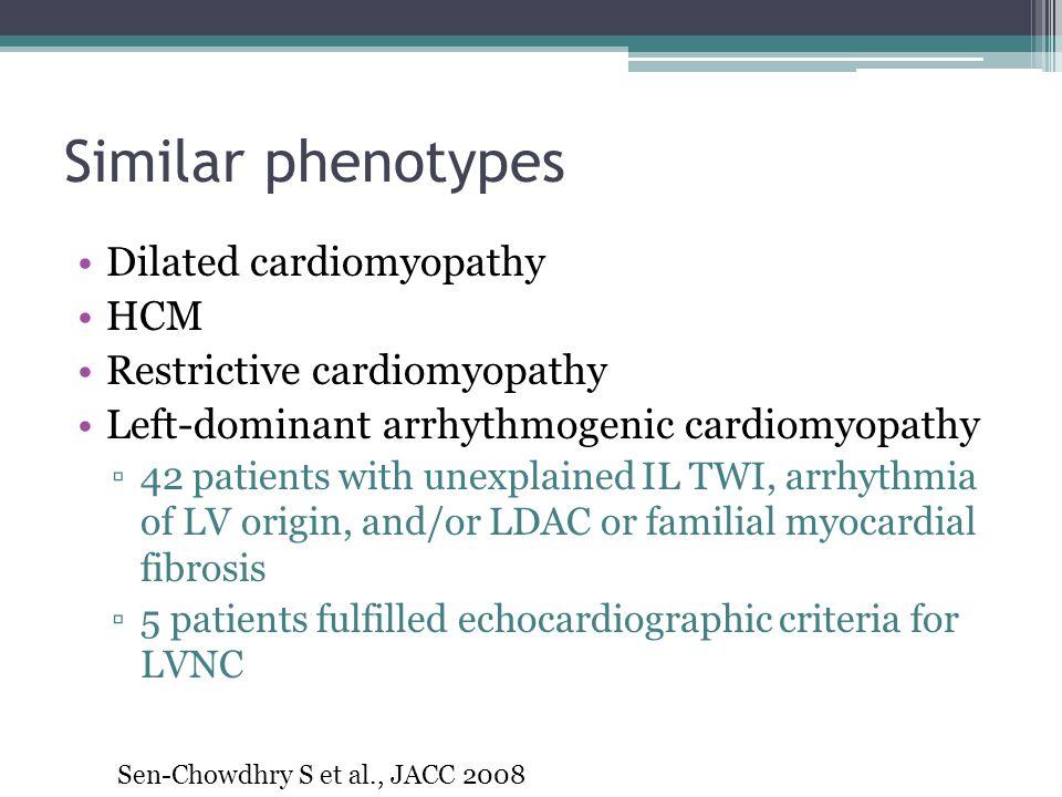 Similar phenotypes Dilated cardiomyopathy HCM