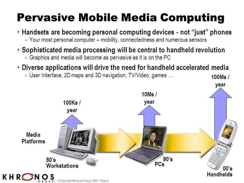 Pervasive Mobile Media Computing