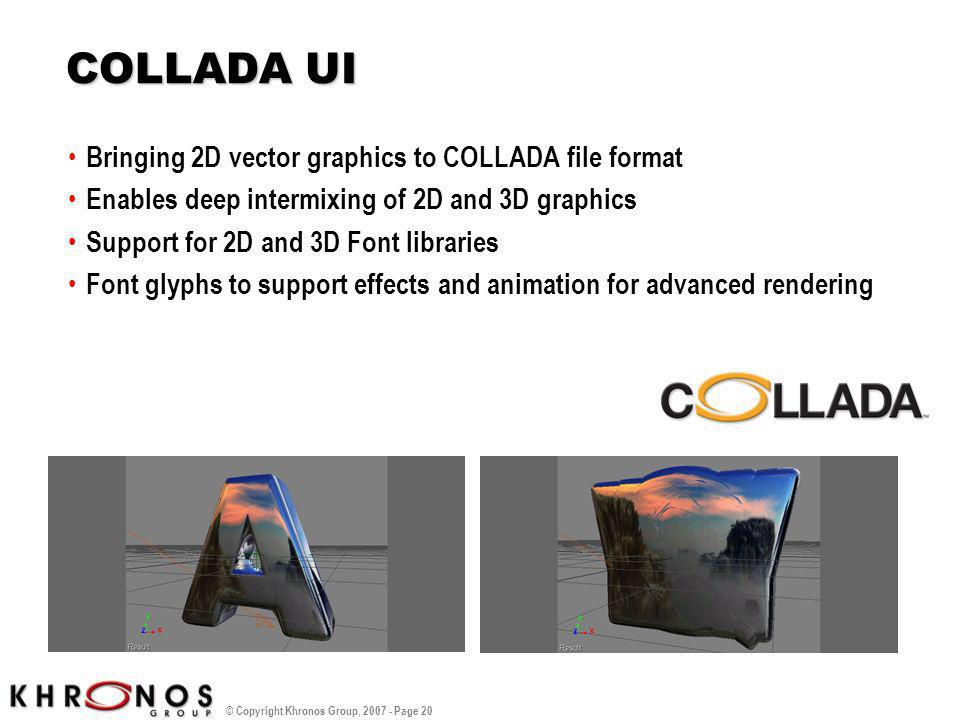 COLLADA UI Bringing 2D vector graphics to COLLADA file format