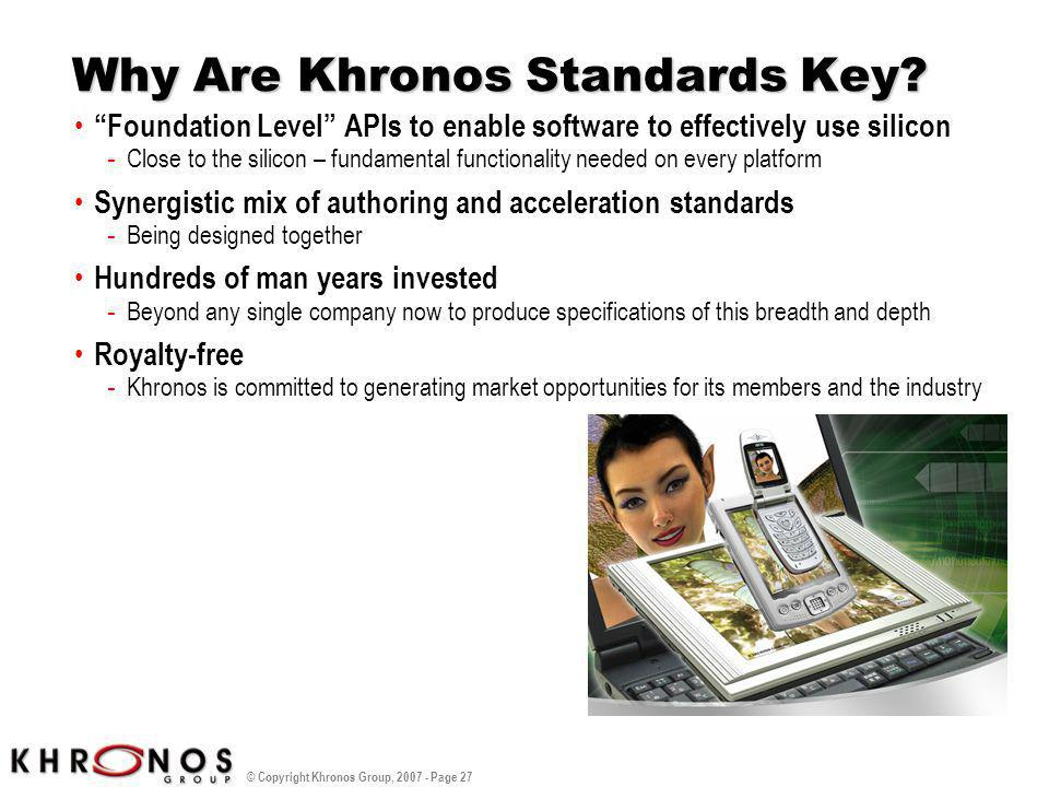 Why Are Khronos Standards Key