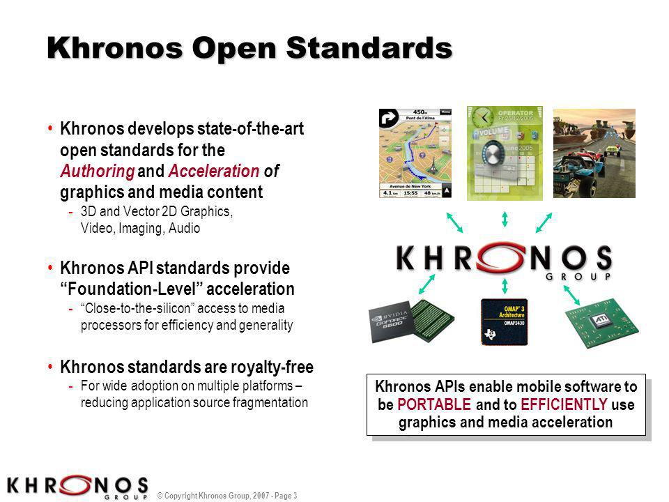 Khronos Open Standards