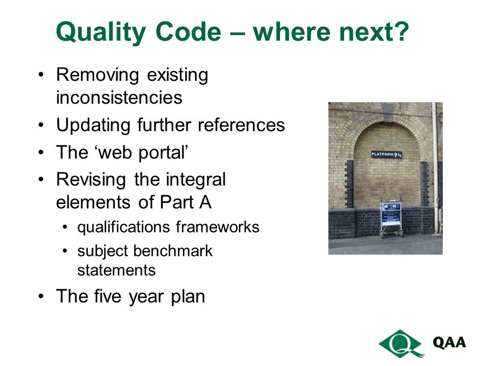 Quality Code – where next