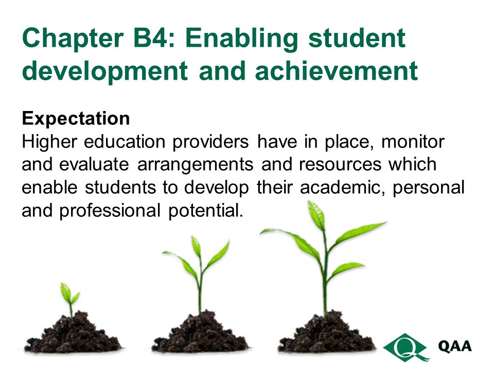 Chapter B4: Enabling student development and achievement