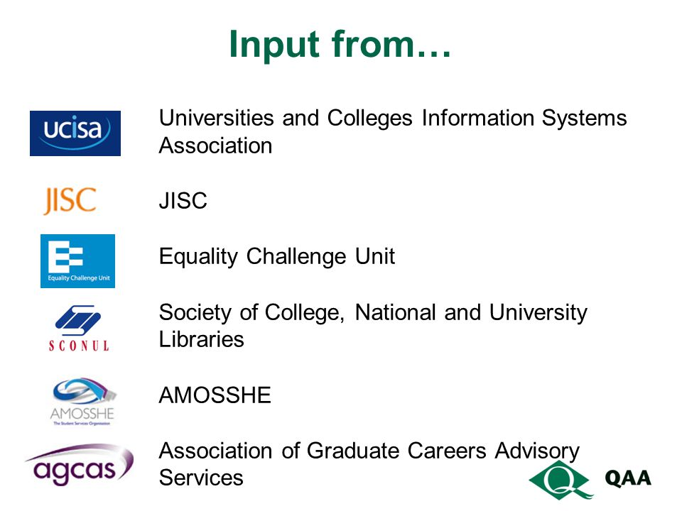 Input from… Universities and Colleges Information Systems Association