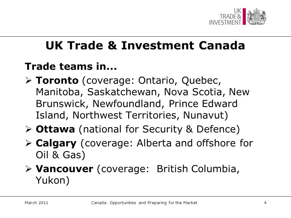 UK Trade & Investment Canada