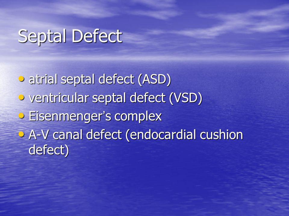 Septal Defect atrial septal defect (ASD)
