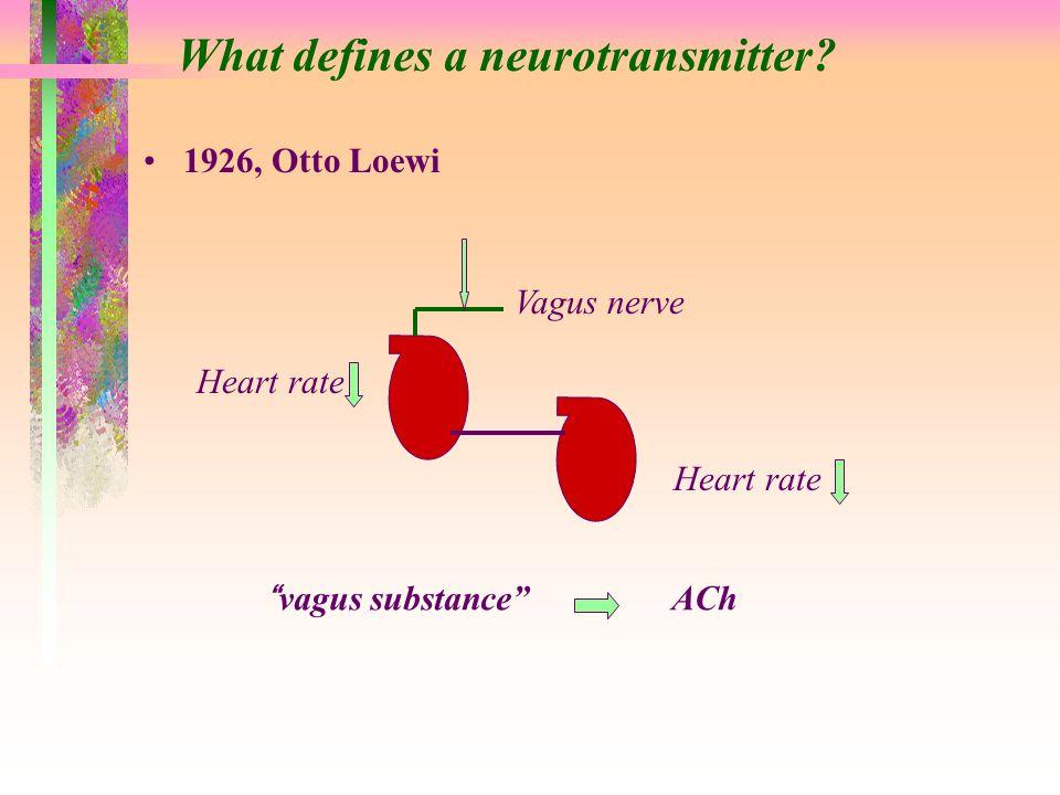 What defines a neurotransmitter