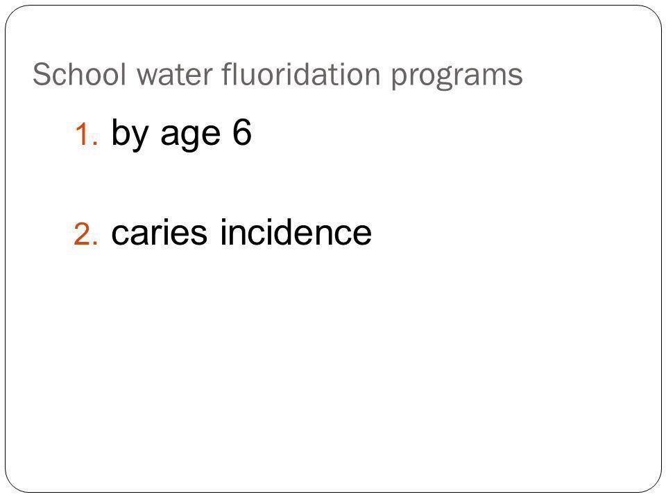School water fluoridation programs