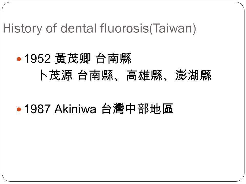 History of dental fluorosis(Taiwan)