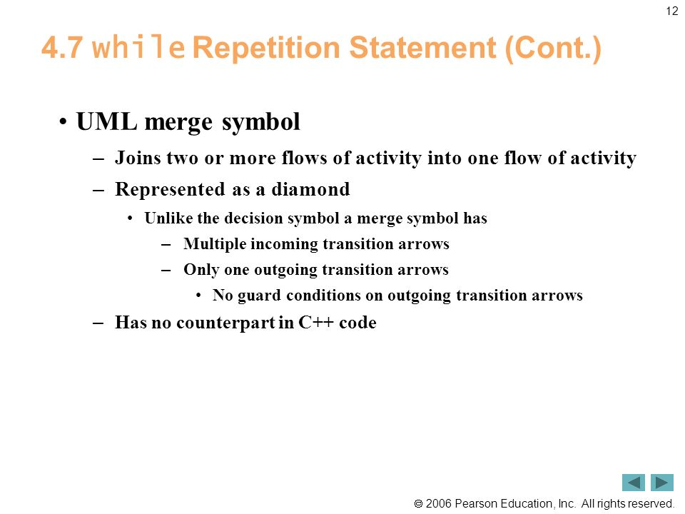 4.7 while Repetition Statement (Cont.)