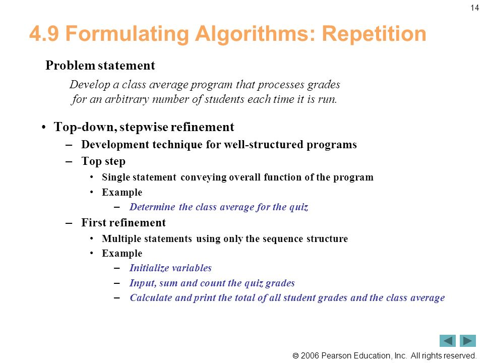 4.9 Formulating Algorithms: Repetition