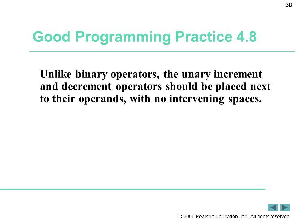 Good Programming Practice 4.8