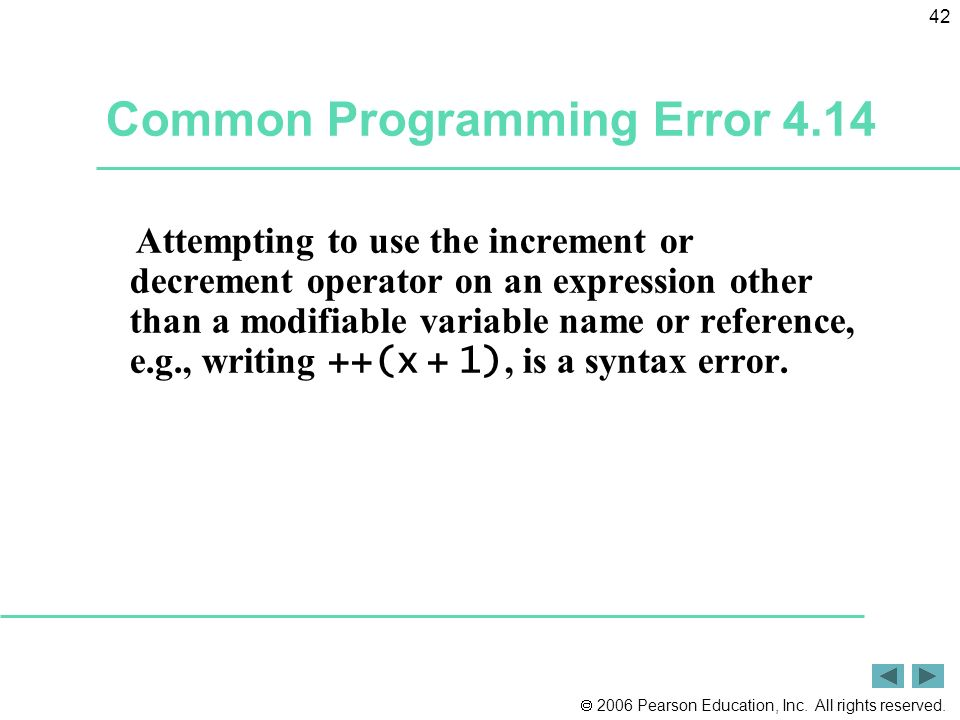 Common Programming Error 4.14