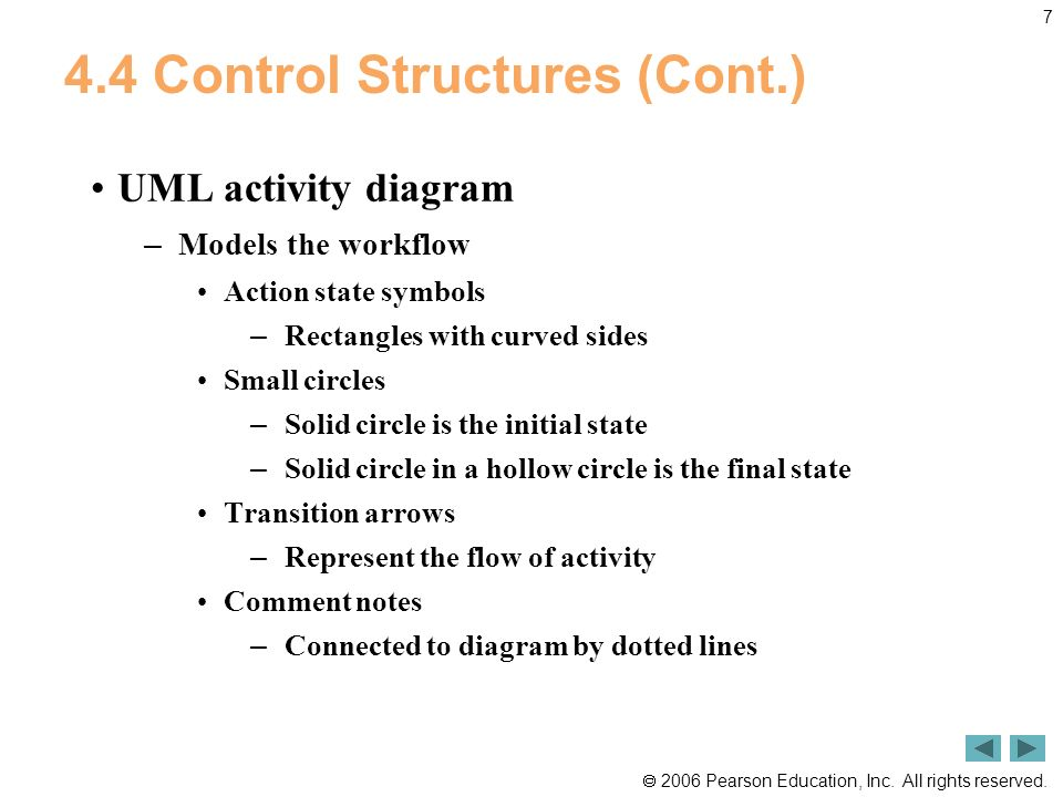 4.4 Control Structures (Cont.)