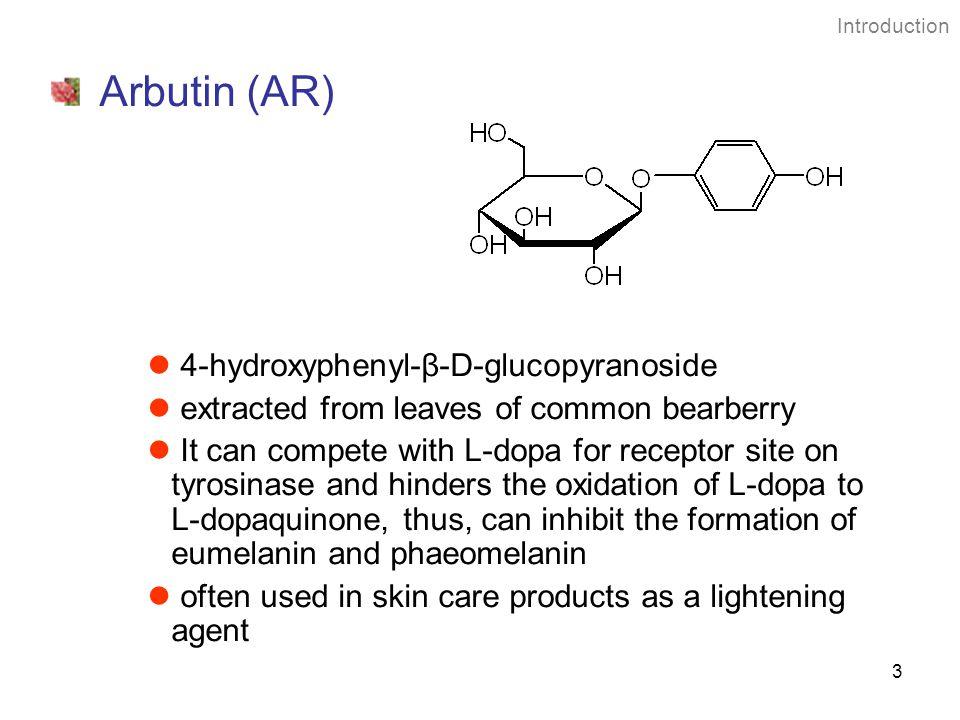 Arbutin (AR) 4-hydroxyphenyl-β-D-glucopyranoside