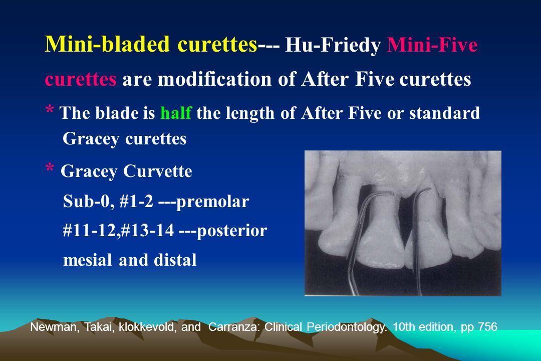 Mini-bladed curettes--- Hu-Friedy Mini-Five