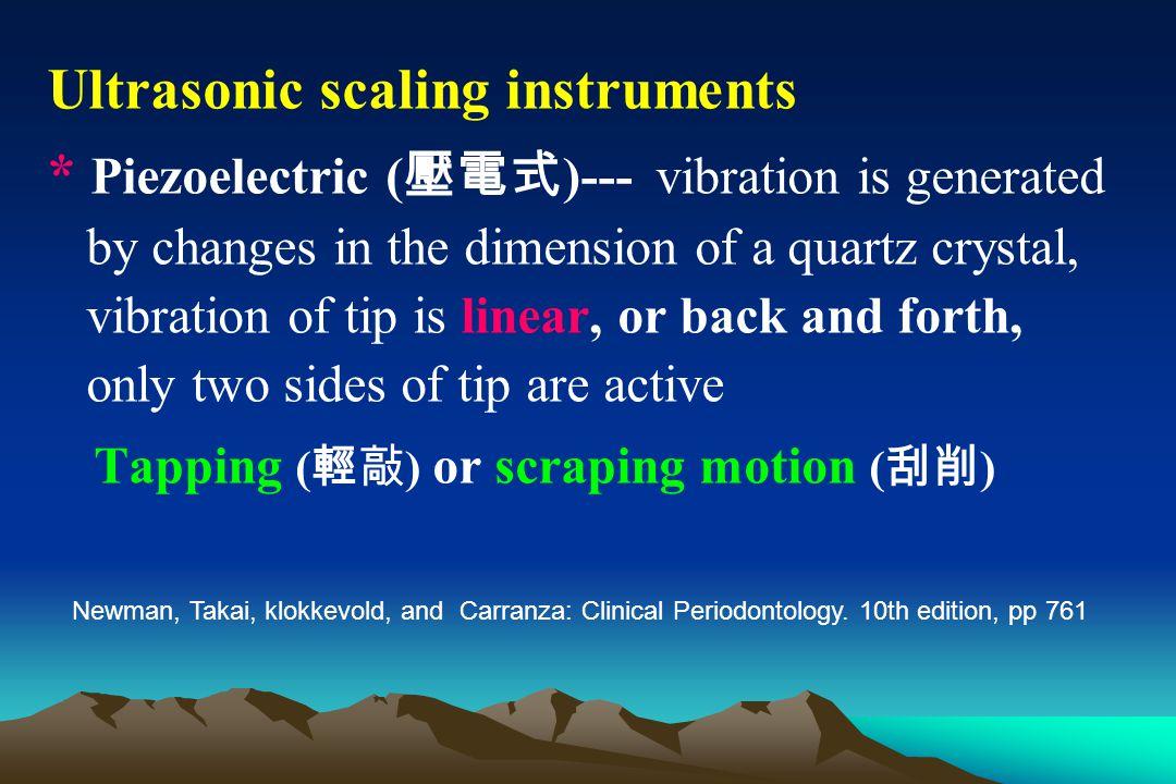Ultrasonic scaling instruments