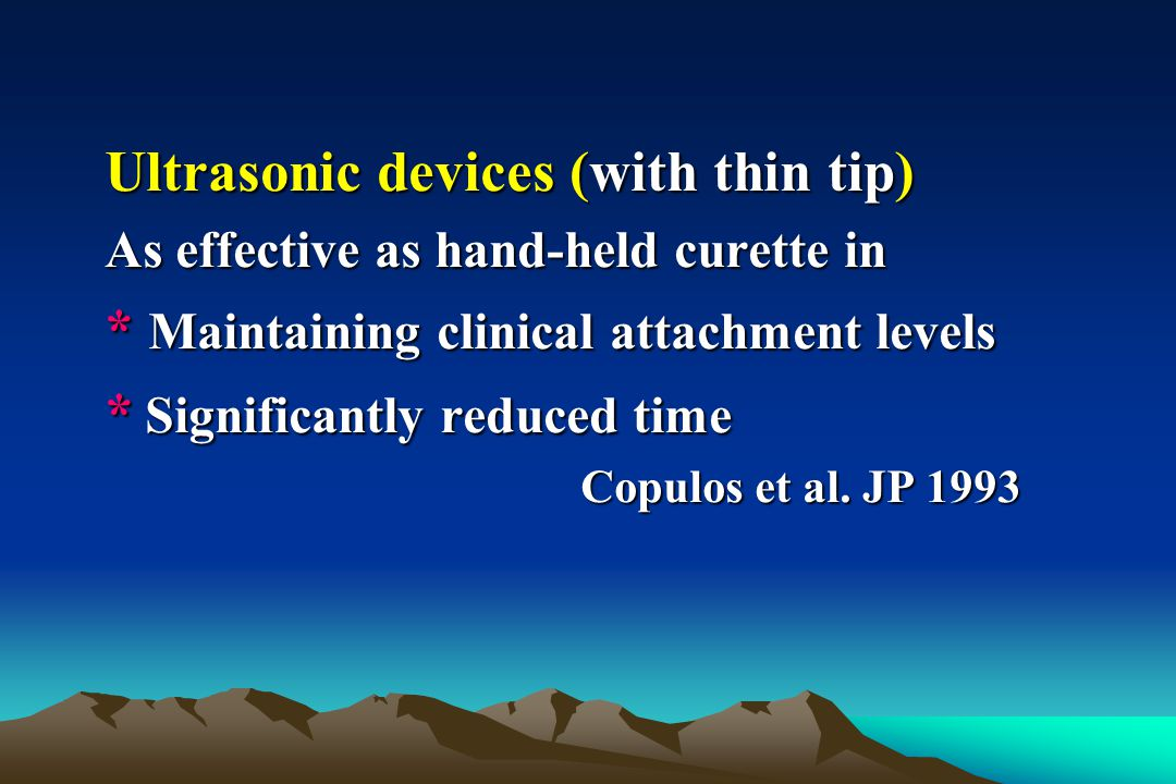 Ultrasonic devices (with thin tip)