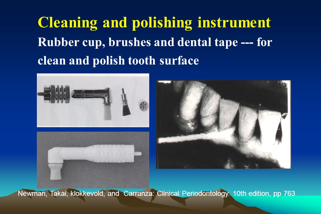 Cleaning and polishing instrument