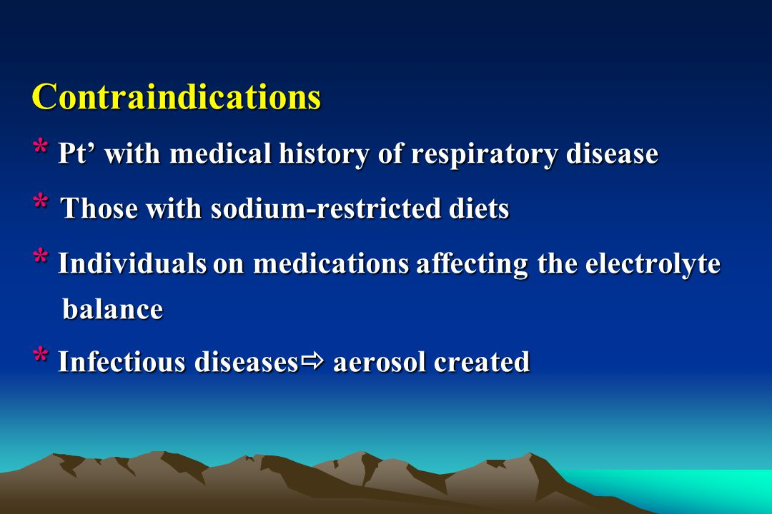* Pt' with medical history of respiratory disease