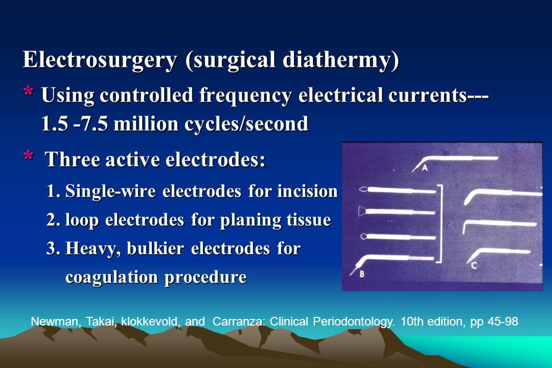 Electrosurgery (surgical diathermy)