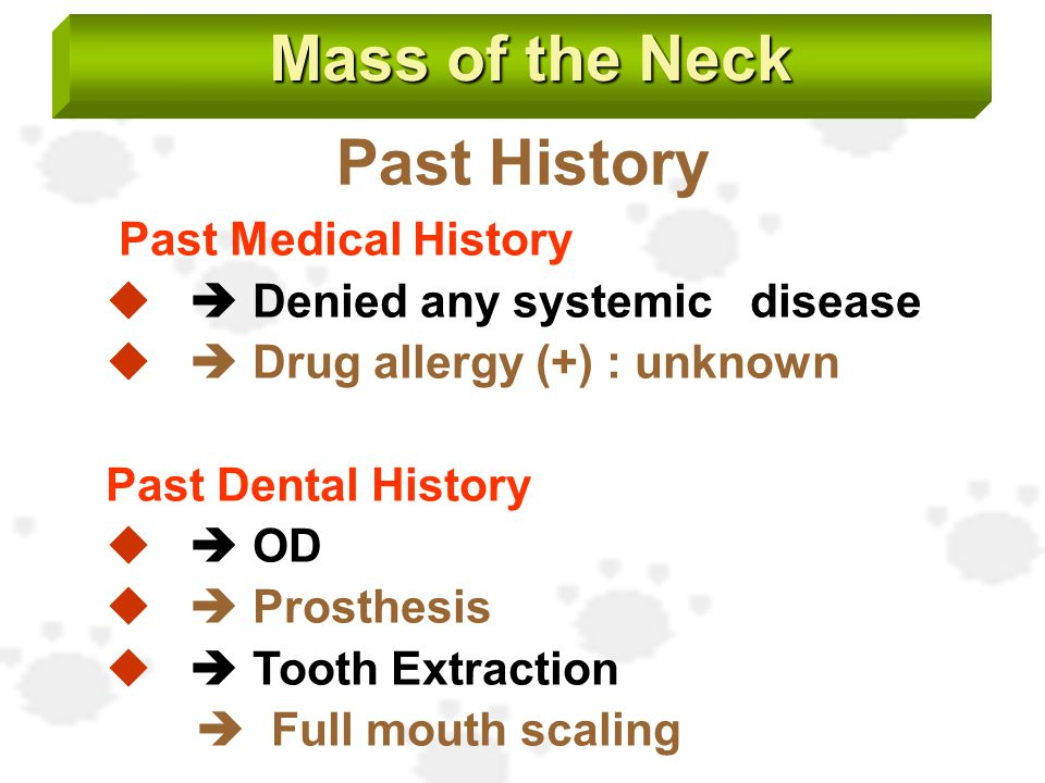 Mass of the Neck Past History