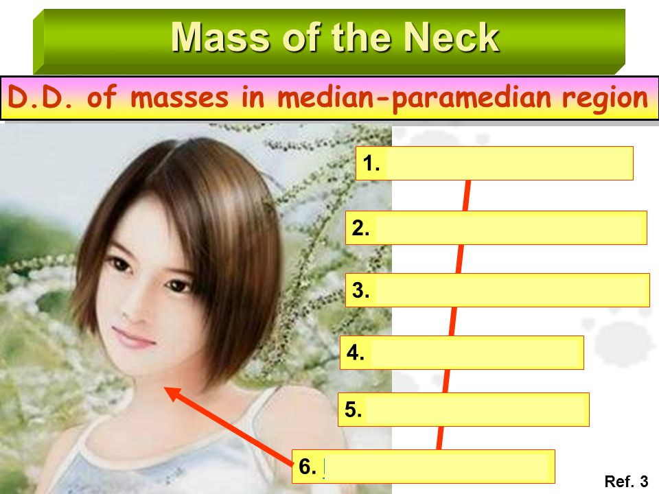 Mass of the Neck D.D. of masses in median-paramedian region