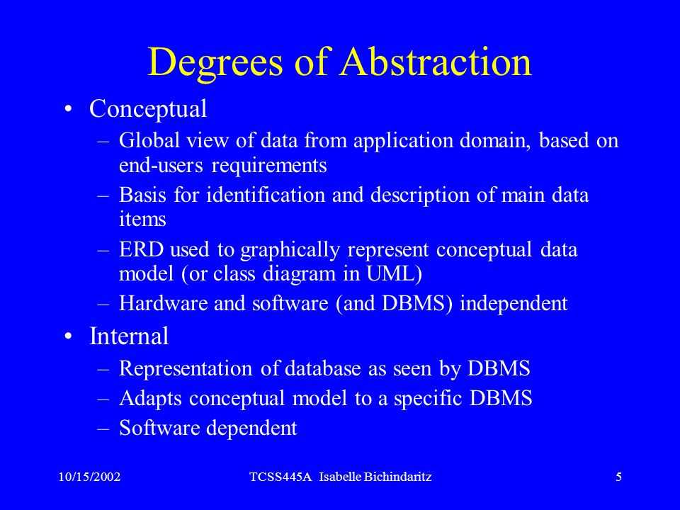 Degrees of Abstraction