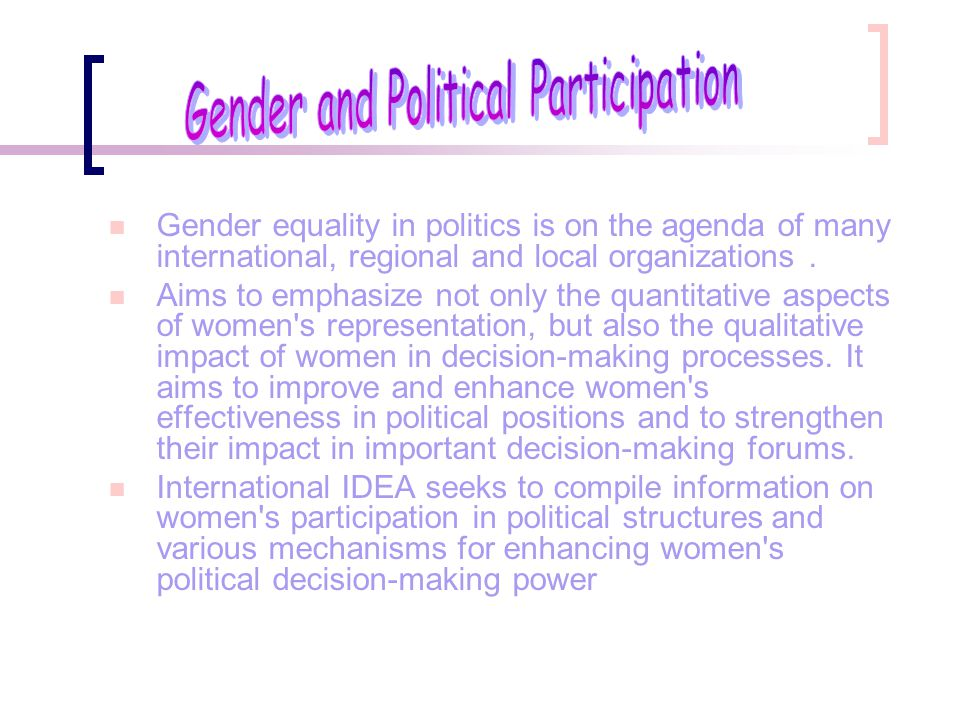 Gender and Political Participation