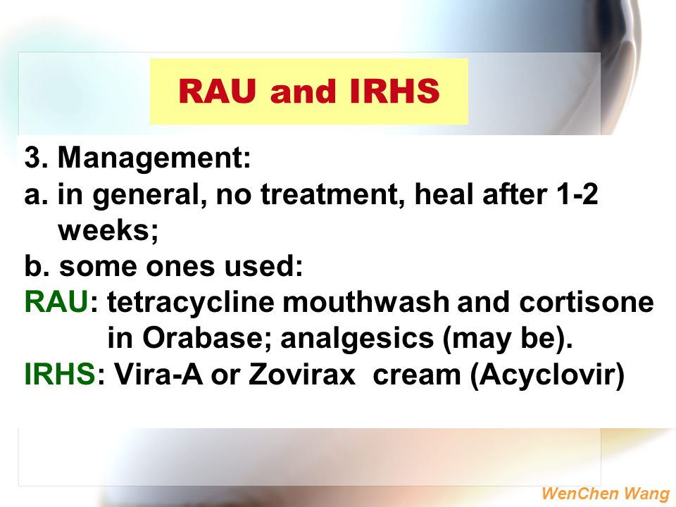RAU and IRHS 3. Management: