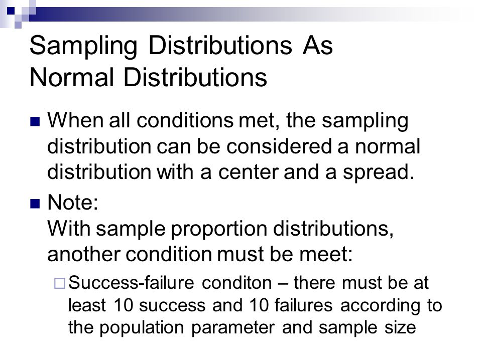 Sampling Distributions As Normal Distributions