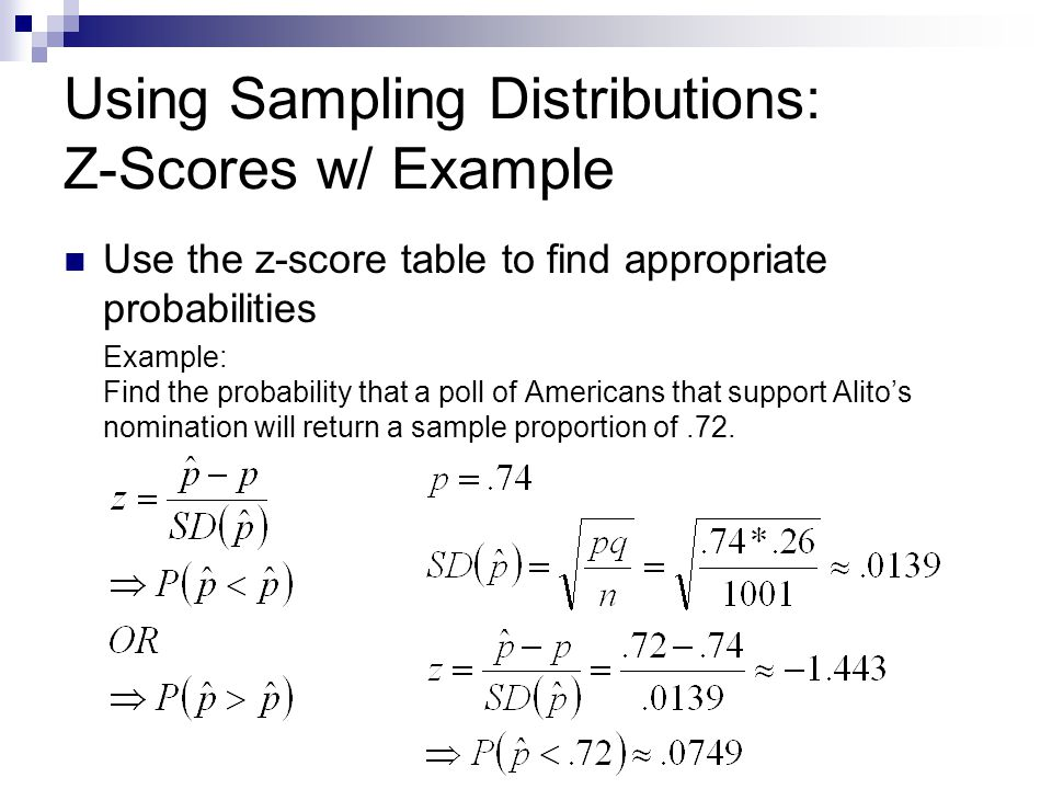 Using Sampling Distributions: Z-Scores w/ Example