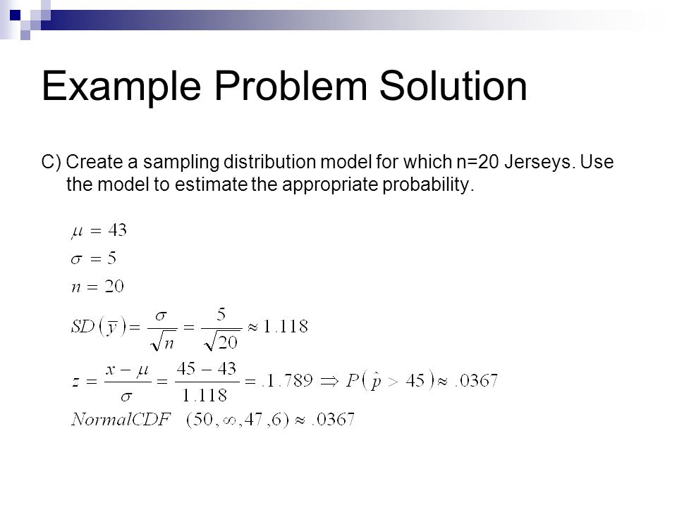 Example Problem Solution