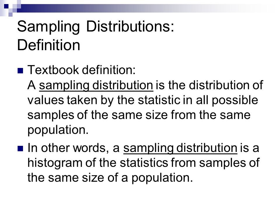 Sampling Distributions: Definition