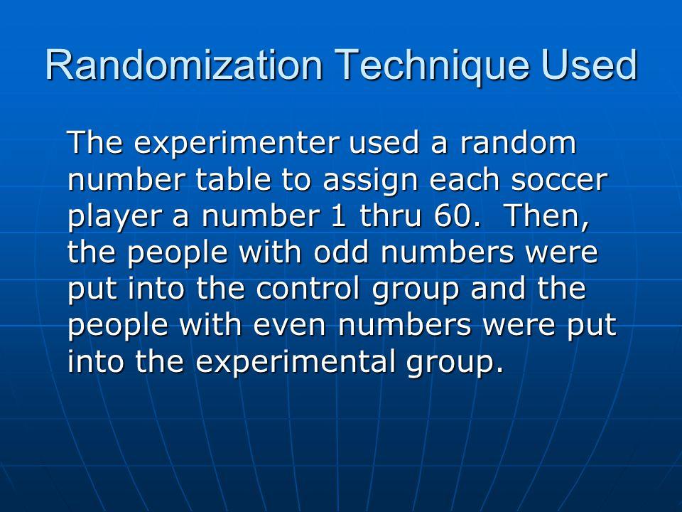 Randomization Technique Used