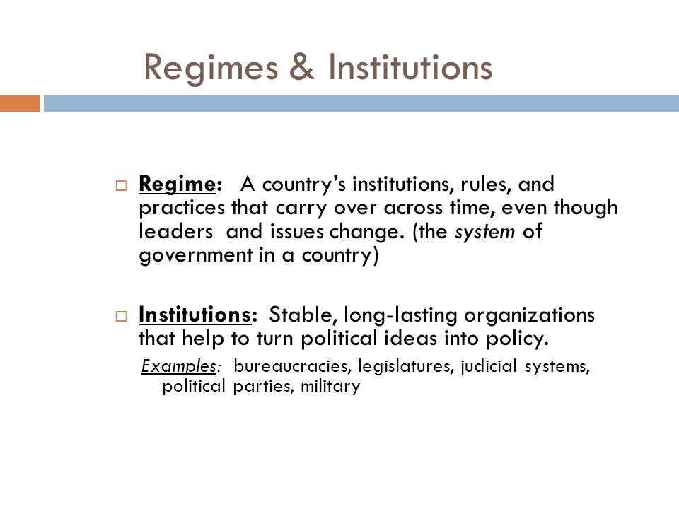 Regimes & Institutions