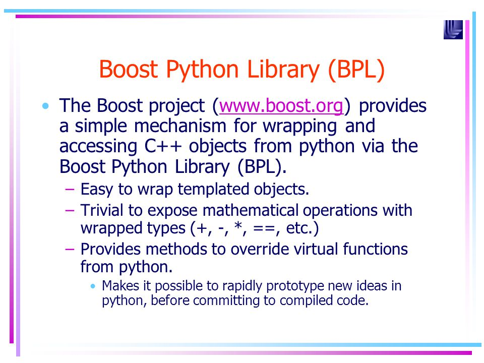 Boost Python Library (BPL)