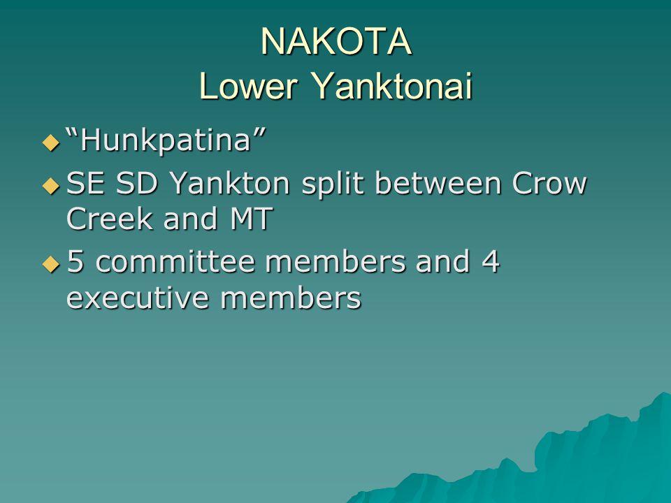 NAKOTA Lower Yanktonai