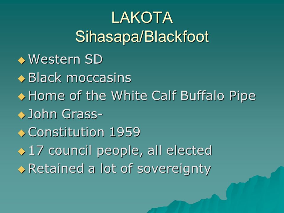 LAKOTA Sihasapa/Blackfoot