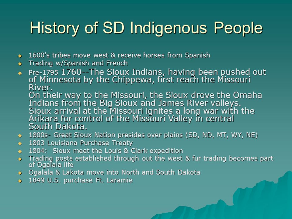 History of SD Indigenous People