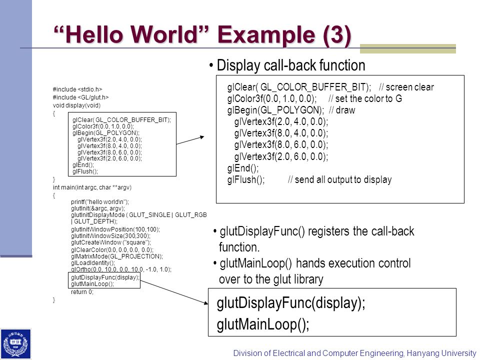 Hello World Example (3)