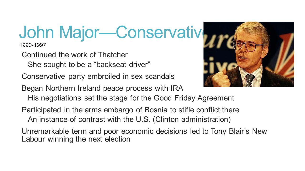John Major—Conservative
