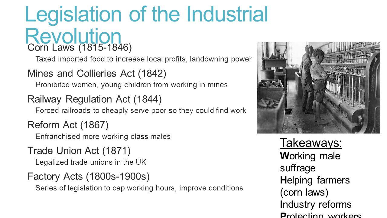 Legislation of the Industrial Revolution