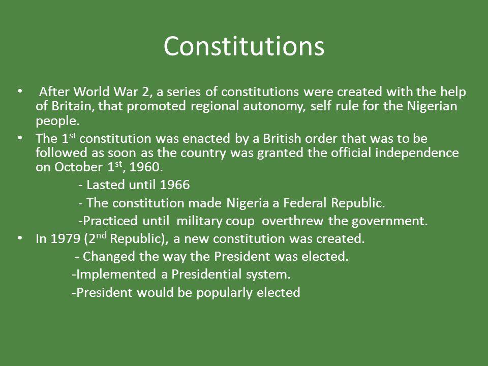 Constitutions