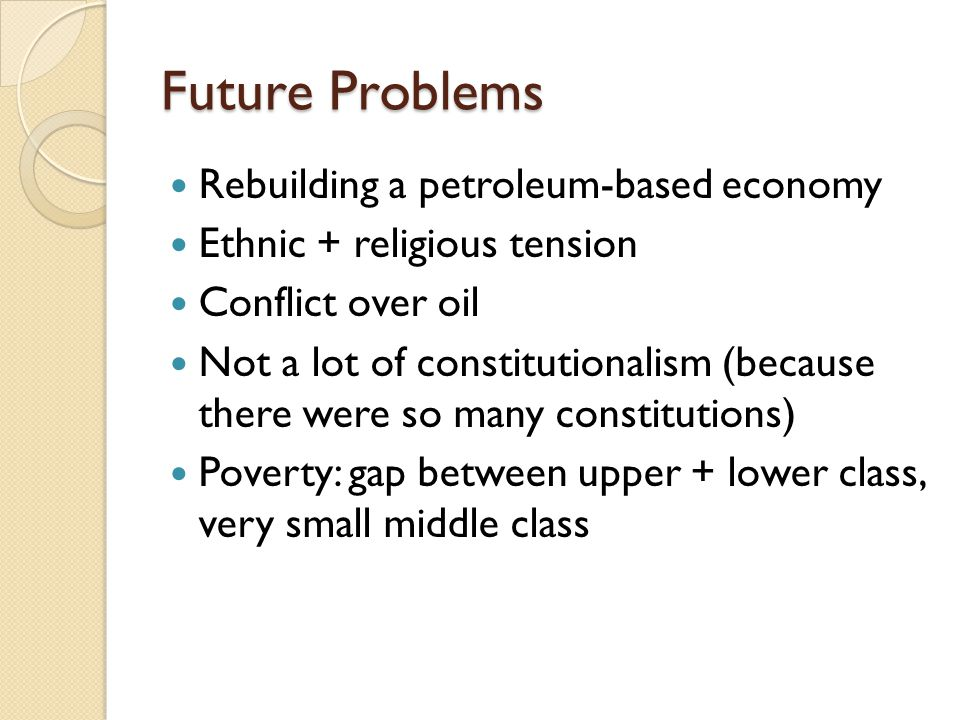 Future Problems Rebuilding a petroleum-based economy