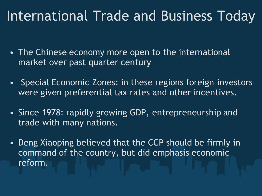 International Trade and Business Today