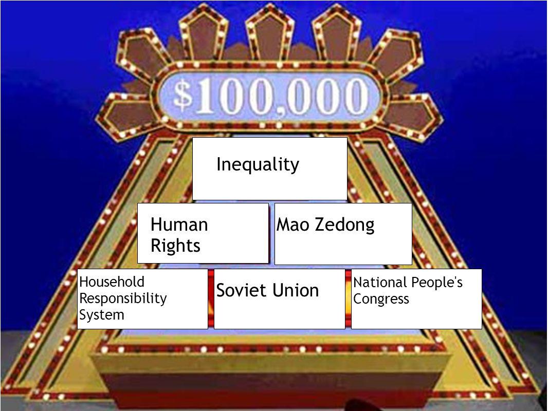 Inequality Human Rights Mao Zedong Soviet Union