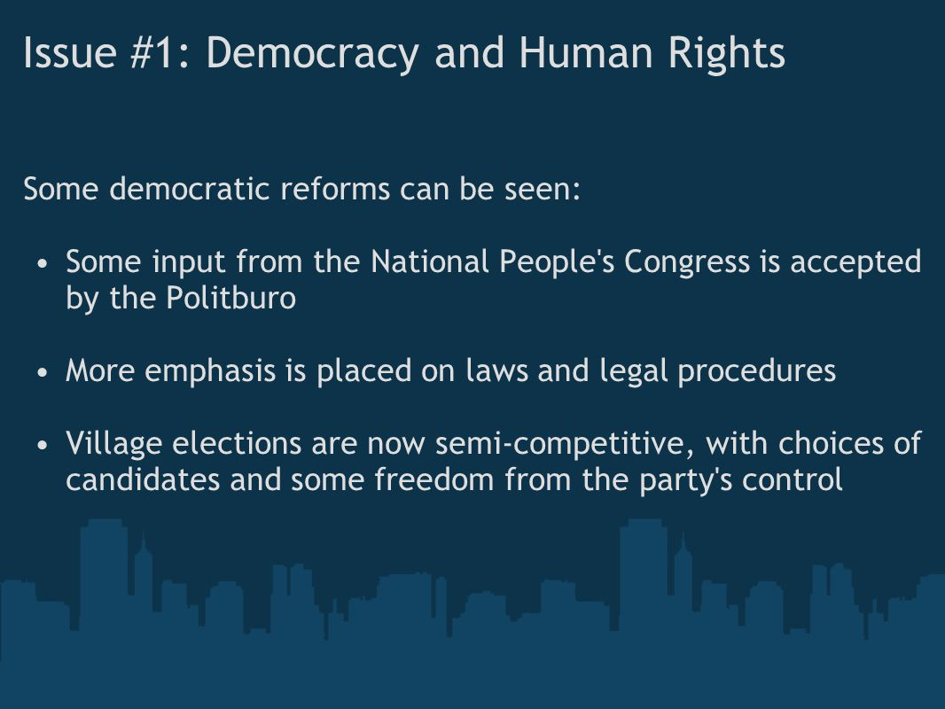 Issue #1: Democracy and Human Rights