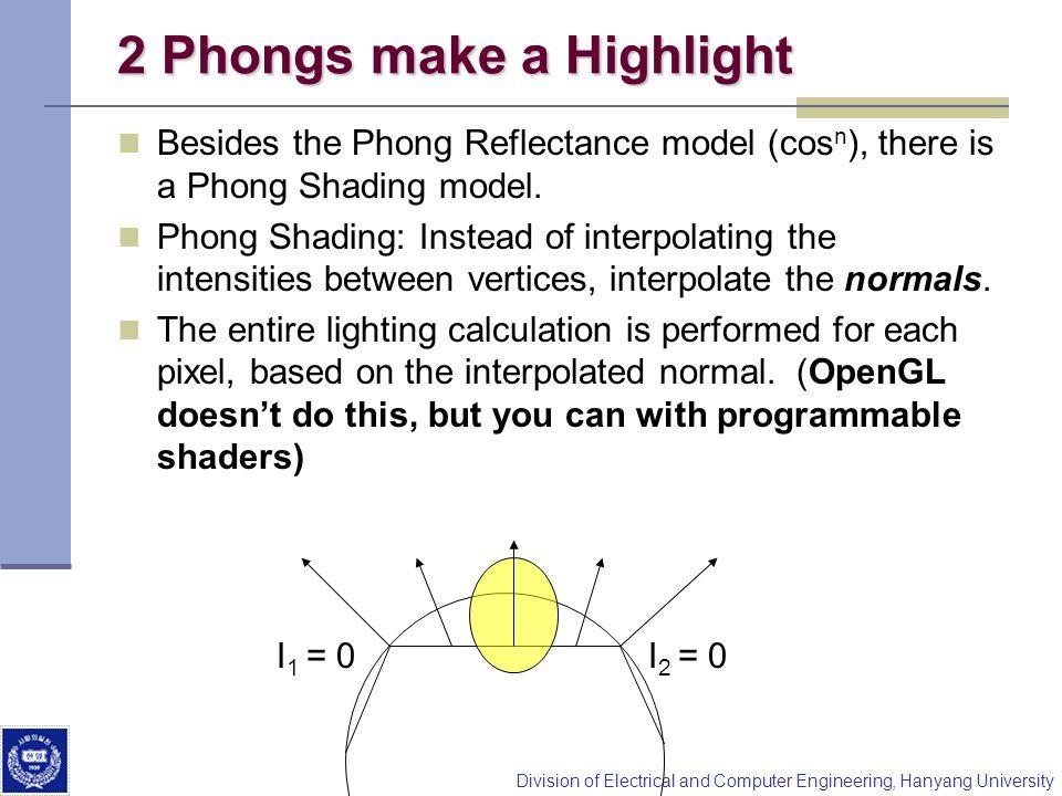 2 Phongs make a Highlight