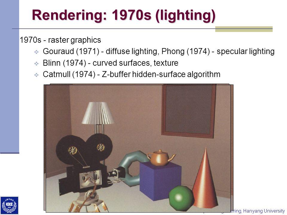 Rendering: 1970s (lighting)